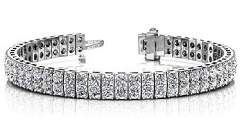 Picture of Classic Double Row Claw Set Diamond Tennis Bracelet
