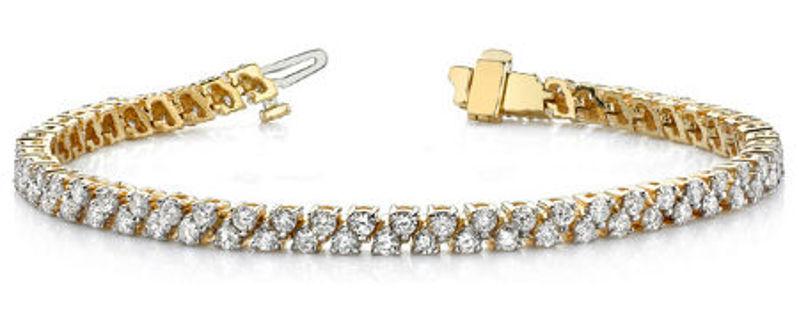 Picture of Classic Double Row Diamond Tennis Bracelet