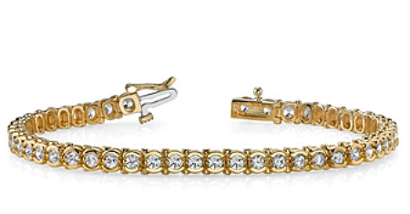 Picture of Classic Half Bezel Diamond Tennis Bracelet