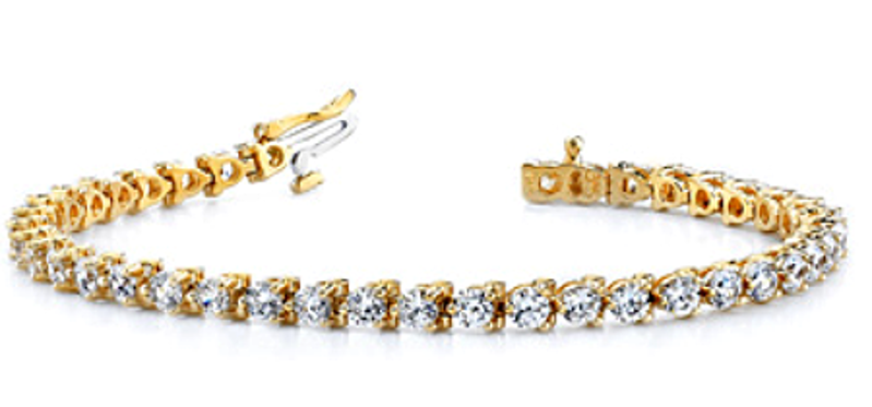 Picture of Classic Shared Prong Diamond Tennis Bracelet