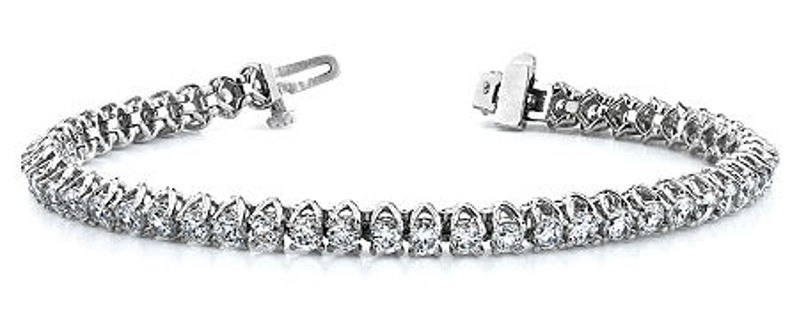 Picture of Classic V Prong, Claw Set Diamond Tennis Bracelet
