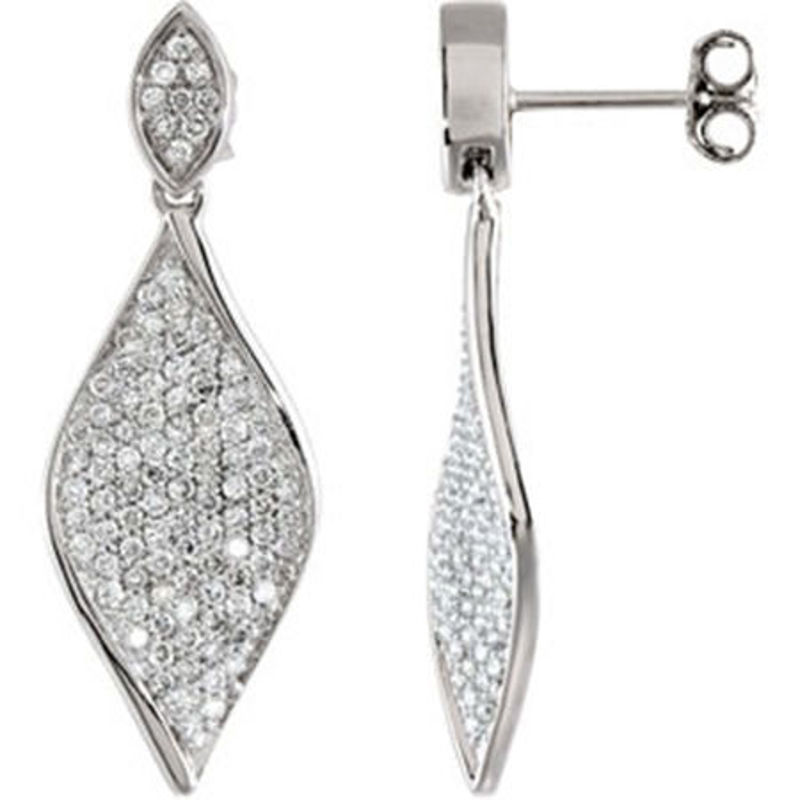 Picture of 14kt white gold diamond fashion earrings