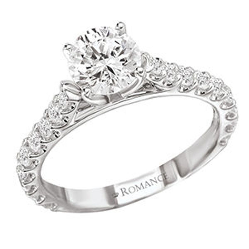 Picture of Solitaire Semi-Mount Diamond Ring | Diamond Engagement Rings