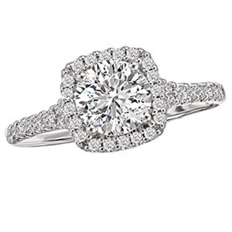 Picture of Halo Semi-Mount Diamond Ring | Diamond Engagement Rings