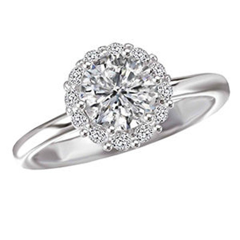 Picture of Halo Semi-Mount Diamond Ring 2   Diamond Engagement Rings