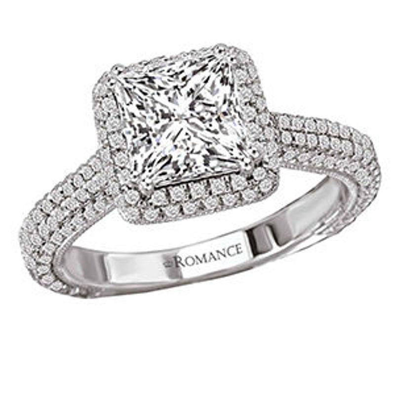 Picture of Halo Semi-Mount Diamond Ring 3   Diamond Engagement Rings