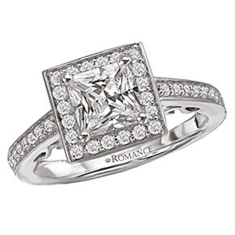 Picture of Halo Semi-Mount Diamond Ring 4   Diamond Engagement Rings