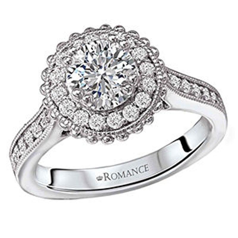 Picture of Round Halo Semi-Mount Diamond Ring   Diamond Engagement Rings