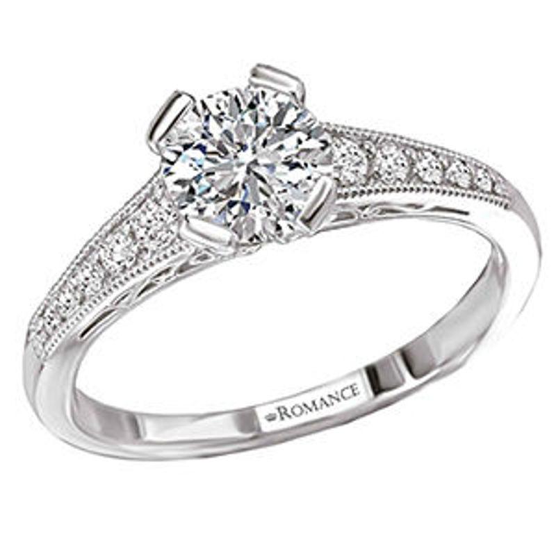 Picture of Vintage Semi-Mount Diamond Ring | Diamond Engagement Rings
