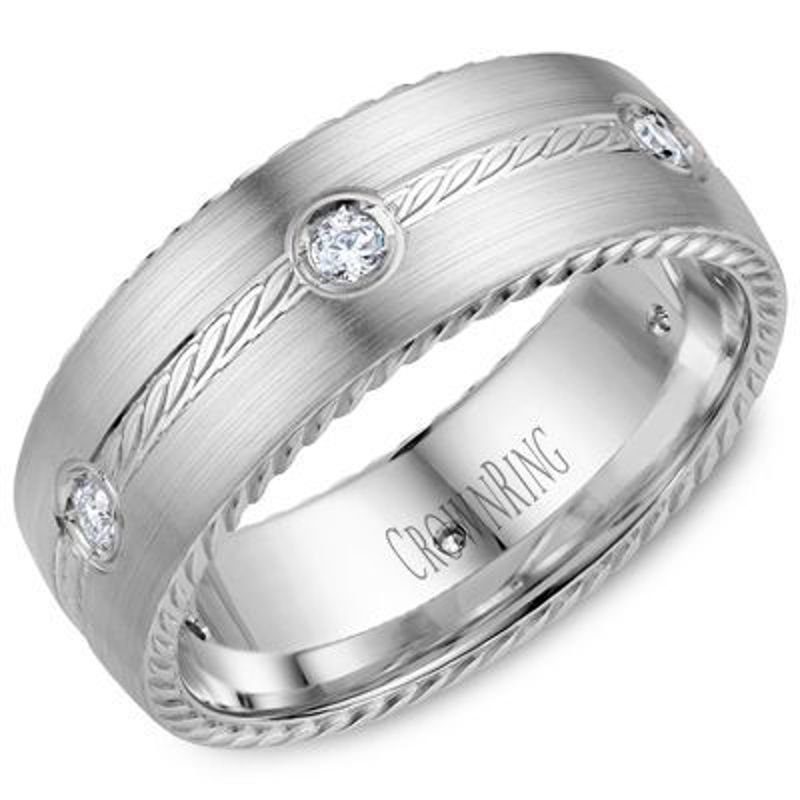 Picture of WB-001RD8W | Wedding Rings Calgary
