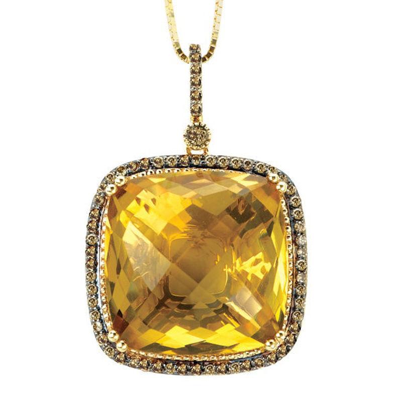 Picture of Ladies Honey Quartz Pendant