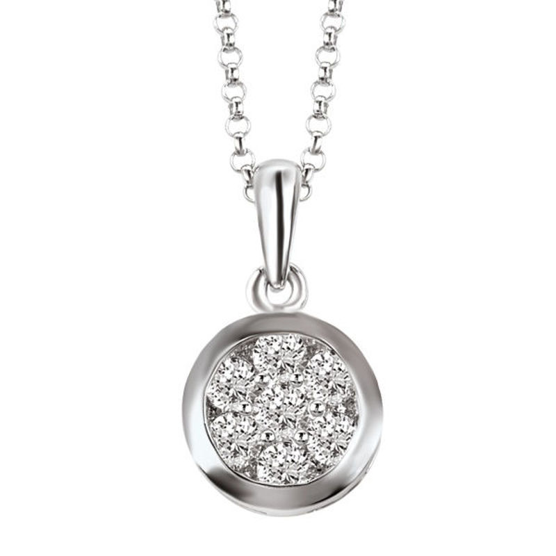 Picture of Ladies Diamond Pendant with Chain