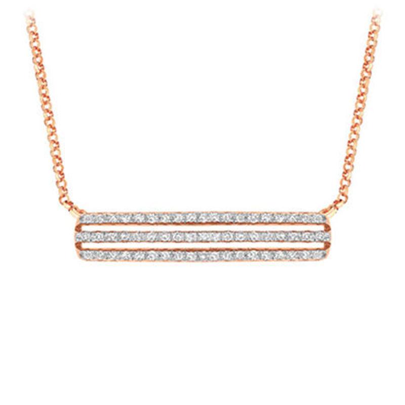 Picture of 14K Rose Gold Diamond Pendant set with 57 diamonds
