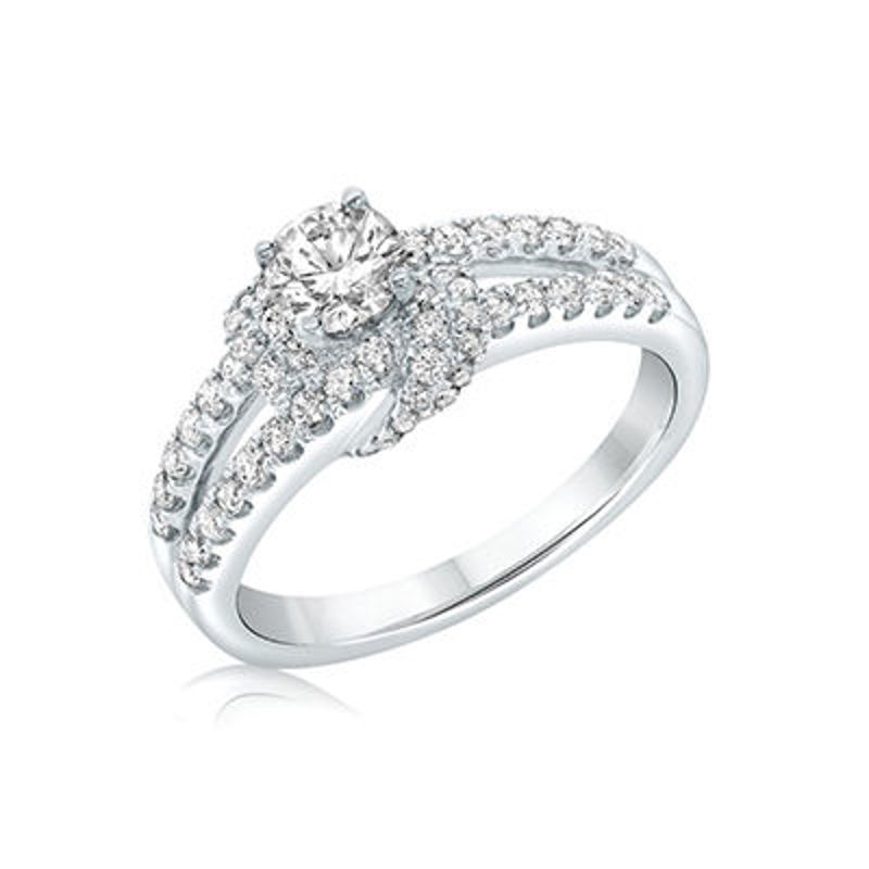 Picture of 14K White Gold Diamond Engagement Ring