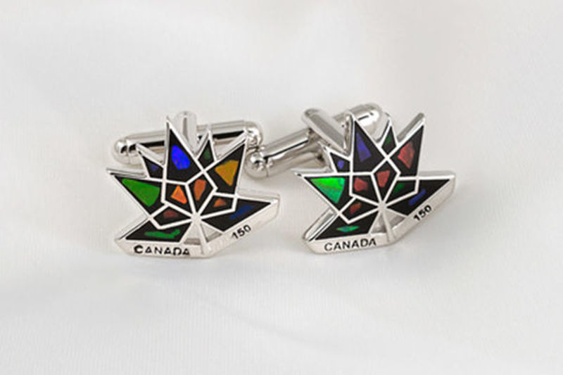 Picture of Canada 150 Official Silver Cufflinks