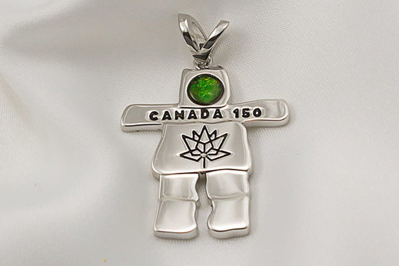 Picture of Canada 150 Official Silver Inukshuk Pendant
