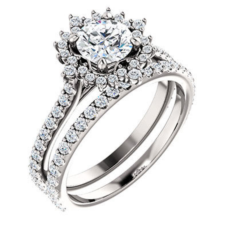 Picture of EDS - 123554W   Diamond Engagement Rings