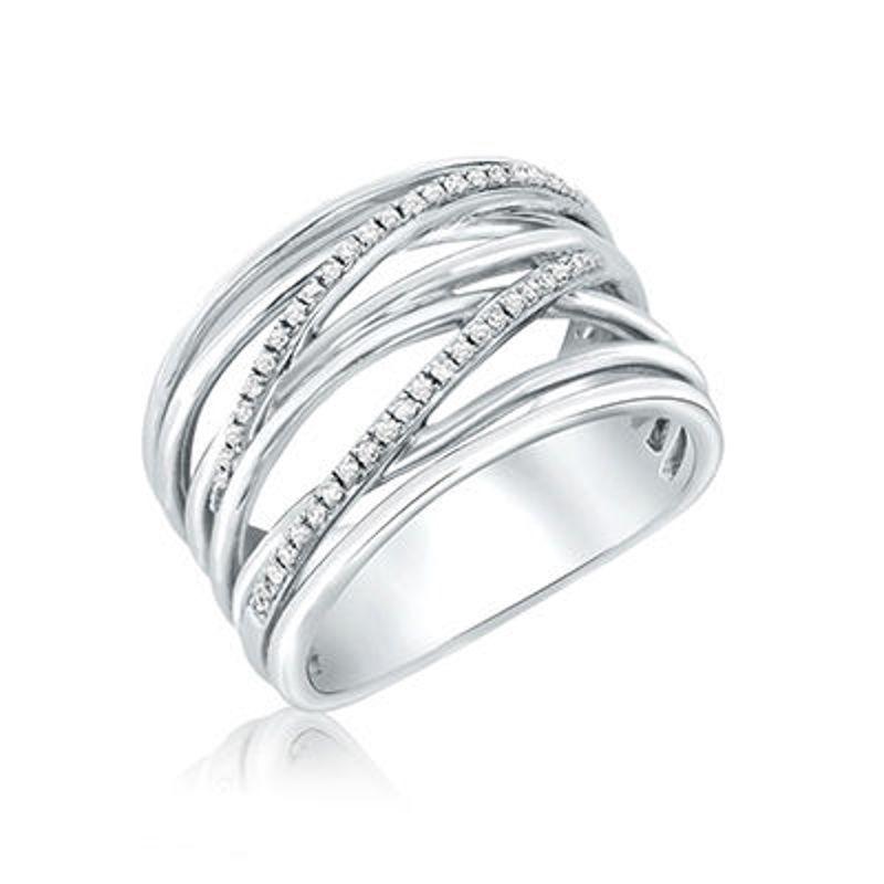 Picture of 14K White Gold & Diamond Fashion Ring